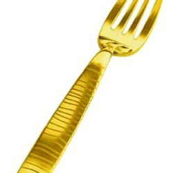 Mepra Tigre Ice Oro Cake Fork, Gold Matt, Set Of 12