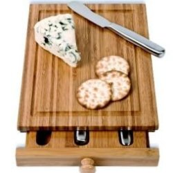 Franmara Bamboo Cheese Tools Case And Cutting Board