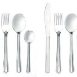 Flatware Set 16 Piece Set 4 Stainless Steel Knives,4 Forks, 4 Spoons, 4 Teaspoons - Durable And Dishwasher-Safe - Ideas In Life Tm