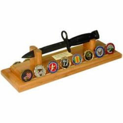 Oak Knife Challenge Coin Stand