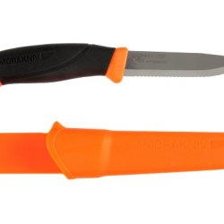 Morakniv Companion Serrated Rescue Knife With 3.9-Inch Sandvik Stainless Steel Blade