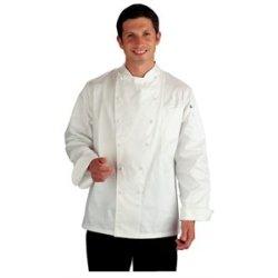 Chef Works Echr-Wht Madrid Egytian Cotton Chef Coat, Size 40
