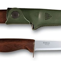 Helle Speider (Scout) Fixed-Blade Knife, 90 Mm, Birch Wood Handle, Finger Guard