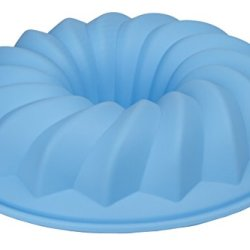 Bundt Cake Mold - Le Juvo Round 10X2 Inch Silicone Pan - Blue