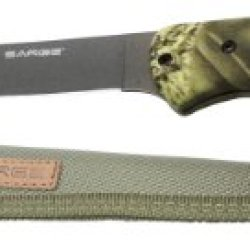 Sarge Knives Sk-132 Camo Fixed Blade Fillet Knife With 6-1/2-Inch Stainless Blade And Camo Handle