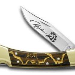 Buck 110 Yellowhorse Wolf Valley 1/100 Folding Hunter Pocket Knife Knives