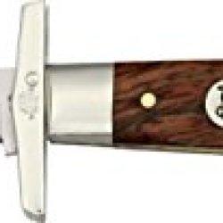 Queen Swing Guard Lock Fold Knife, D2 Tool Steel Clip Blade, Curly Zebra African Hardwood 3300