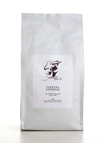 Santana Espresso - Ganze Kaffeebohnen Röstkaffee aus der Dominikanischen Republik, Espresso-Bohnen langzeitgeröstet, Premium Single Origin Kaffee aus Eigenanbau der Familie Santana (500g)