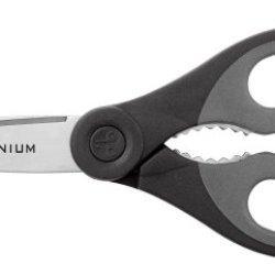 """Clauss 13898 8"""" Titanium Chef Shear (Grey/Black)"""