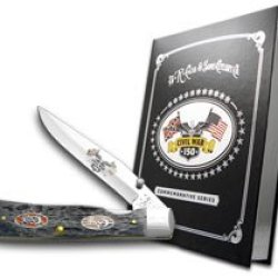 Case Xx Civil War Book Set Volume 5 Battle Of Bull Run Gray Jigged Bone Trapperlock Pocket Knives