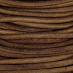 Natural Dye Light Brown Round Leather Cord 6.0Mm X 25M Best Value!
