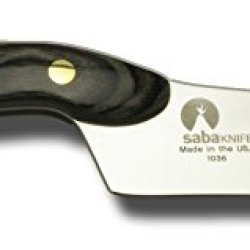Saba 4.75 In. Glacier Devon Slicer Knife, Black