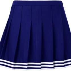 "Teamwork Girl'S Poise Pleated Cheerleader Skirts 26-27""W Navy/White/Navy"