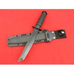 """12"""" New Black Fixed Blade Tanto Tactical Combat Camping Fighting Knife"""