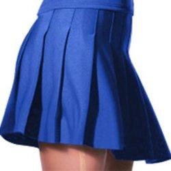 "Alleson Athletic Women'S Knife Pleat Cheerleaders Uniform Skirts 31-31.5""W Royal"