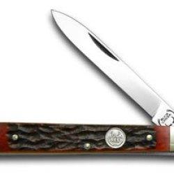Buck Creek Red Walnut Jigged Bone Doctor Pocket Knife Knives