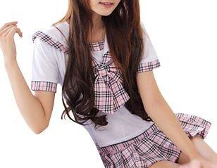 【コスプレ】AKB 可愛いチェックセーラー服/女子制服/学生服/女子高生