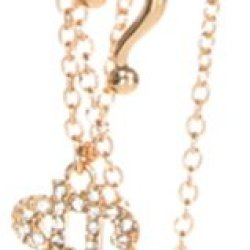 Punctuation (?,$,%) Multi Strand Necklace - Gold Tone - Hip Hop