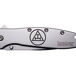 Mason Masonic Royal Arch Engraved Kershaw Leek 1660 Ken Onion Design Folding Speedsafe Pocket Knife By Ndz Performance
