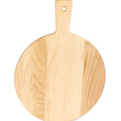J.K. Adams Maple Wood Mini Cutting Board, Round, 7-1/2-Inches By 5-Inches