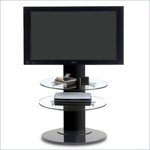 Image of BDI Vista LCD/Plasma TV Stand with TV Mount and 2 Shelves in Black (9960B)