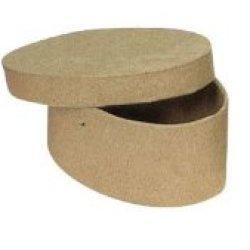 Chenille Kraft Papier-Mache Mini Box - Heart