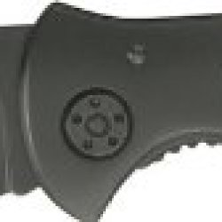 Smith & Wesson Sw423Bs Oasis Serrated Drop Point Blade Knife, Black Titanium Coated Handle And Blade