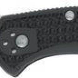 Spyderco Knives 11Sbk Serrated Delica 4 Lockback Knife With Black Handles