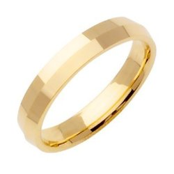 18K Gold Traditional Knife Edge Women'S Wedding Band (4Mm) Size-4