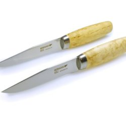 Frosts By Mora Of Sweden M-11460 Handmade Steak Knife With 4.8-Inch Stainless Steel Blade And Masur Birch Handle (Set Of 2)