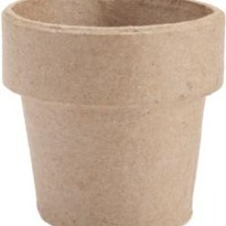 Bulk Buy: Core'Dinations Paper Mache Clay Pot 3'X3' (6-Pack)