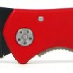 Mtech Red Aluminum Aerated Tactical Knife With Belt Clip