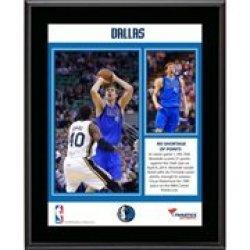 Dirk Nowitzki Dallas Mavericks 10Th All-Time Nba Most Points List Sublimated 10.5'' X 13'' Plaque