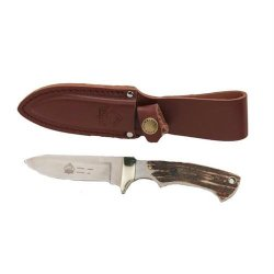 Puma Coyote Stag Handle Blade Hunting Knife, 3.8-Inch