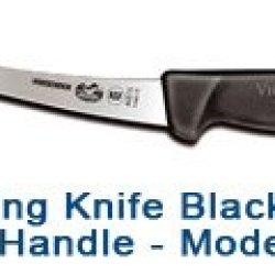 """6"""" Curved Semi-Stiff Knife - Black Fibrox Handle #40515"""