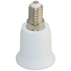 E14 To E27 Base Led Cfl Light Bulb Lamp Adapter Converter Screw Cap Socket New