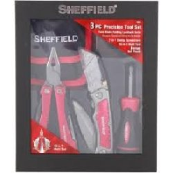 *Sheffield* 3Pc Precision Tool Set