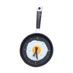 Stylish Creative Wall Clock Fried Eggs Pan Shaped Clock - Color Random