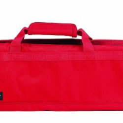 Messermeister 8-Pocket Padded Knife Roll, Red