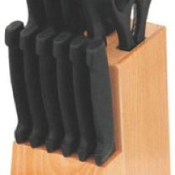 Home Basics 15-Piece Knife Set With Wood Block