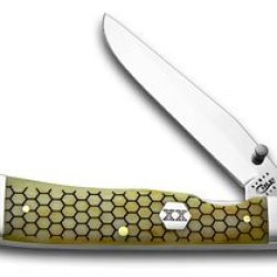 Case Xx Anitque Bone Hexagon Trapperlock Pocket Knife Knives