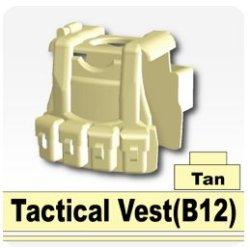 B12 Tactical Vest (Tan) - Custom Minifigure Piece