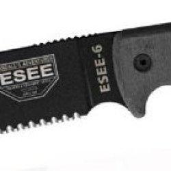Esee 6S Knife W/ Serrated Blade And Sheath