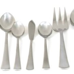 Gibson Lansford 45-Piece 18/0 Stainless Steel Sandblast Flatware Set
