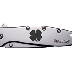 4 Leaf Clover Irish Engraved Kershaw Leek 1660 Ken Onion Design Folding Speedsafe Pocket Knife By Ndz Performance