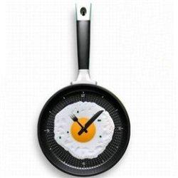 Decor Plastic Digital Fried Eggs Pan Clock