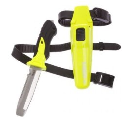 New Tusa Xpert Ii 420 Stainless Steel Scuba Diving Bcd Knife With Blunt Tip (Flash Yellow)