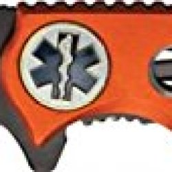 Miscellaneous Speed Rescue Folding Knife,3.5In,Black Partially Serrated Assisted Opening Yc-611Emo