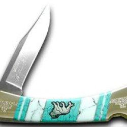 Buck 110 Yellowhorse 1/25 Folding Hunter Lion Wildlife Series Pocket Knife Knives