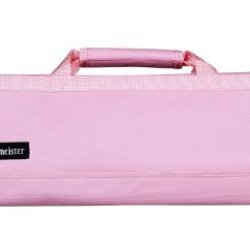 Messermeister 8-Pocket Padded Knife Roll, Light Pink